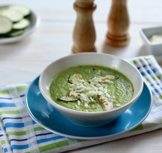 Zupa krem zcukinii zkozim serem